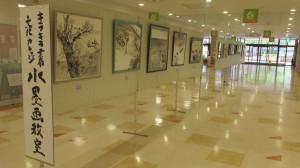 キラキラ雲南文化カレッジ水墨画教室 マルシェリーズ作品展